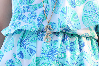 Seahorse Lilly Pulitzer for Target Necklace