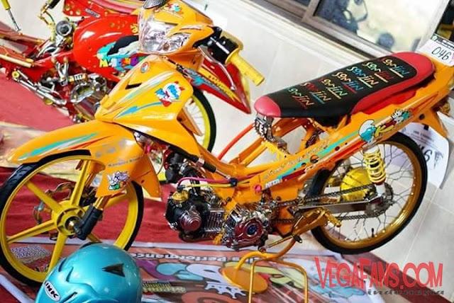 Modifikasi Vega R New Thailook Kuning