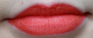 Avon Perfectly Matte Lipstick Absolutely Coral lip swatch