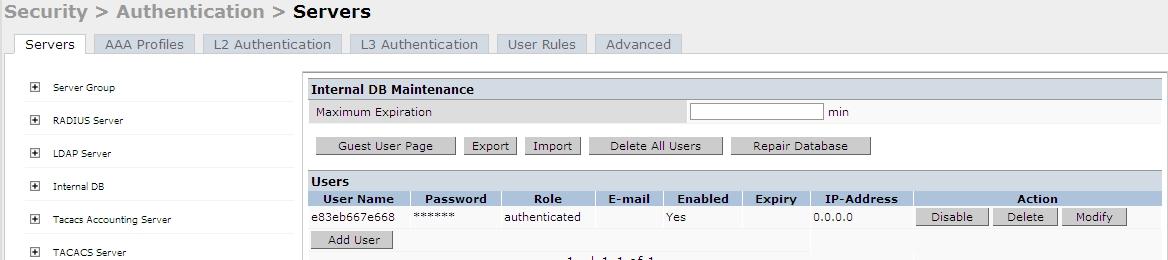 JC's Blog: Aruba Controller Authentication Part 1 MAC-Auth