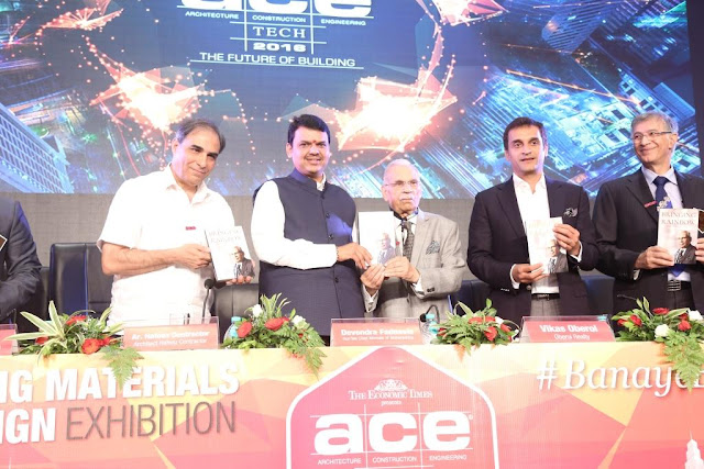 Mr. R.K. Somany, HSIL Chairman Launches his Autobiography Titled 'Bringing the Rainbow' at Acetech Mumbai