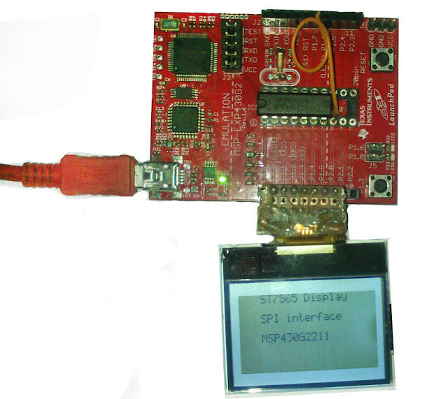 ST7565 LCD Interfacing with MSP430 microcontroller 6