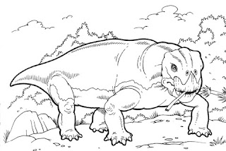 Lystrosaurus Dinosaur For Coloring
