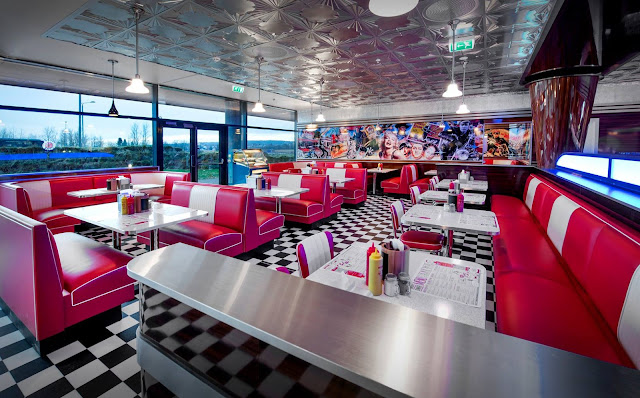 50's themed diner located in Norway.