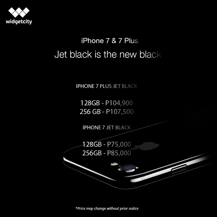 iPhone 7 and 7 Plus Jetblack Widget City Price