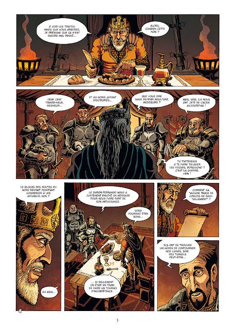 page de Vénosa T1 Cinq Cadavres sur le Pavé de Olivier Milhiet chez Delcourt