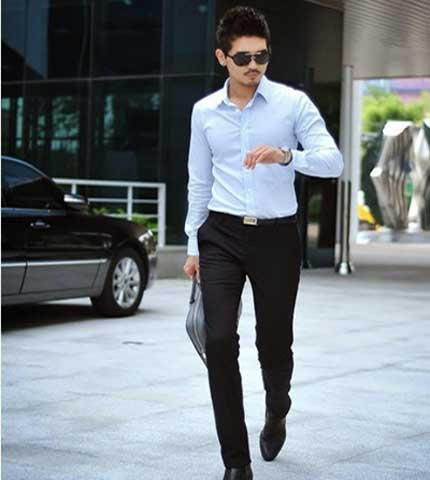 Celana Bahan Chino Slim Fit