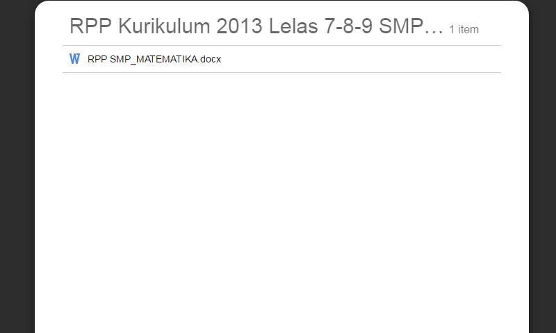 RPP Kurikulum 2013 Lelas 7-8-9 SMP MATEMATIKA Lengkap Revisi Terbaru