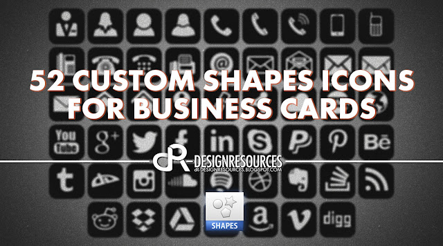 52 Custom Shapes For Business Cards