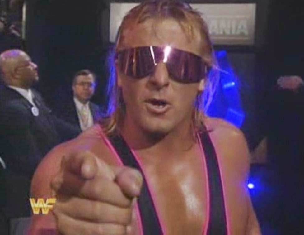 WWF / WWE: Wrestlemania 10 - Owen Hart battled his brother Bret in a classic opening match