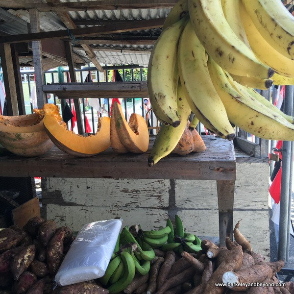 produce at Scarborough Market in Scarborough, Tobago