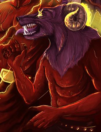 Rogaty demon z Lanar by Joahannah