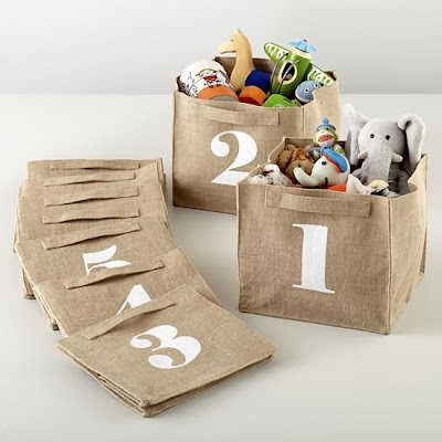 storage bins with numbers 1, 2, 3, 4, 5, etc.