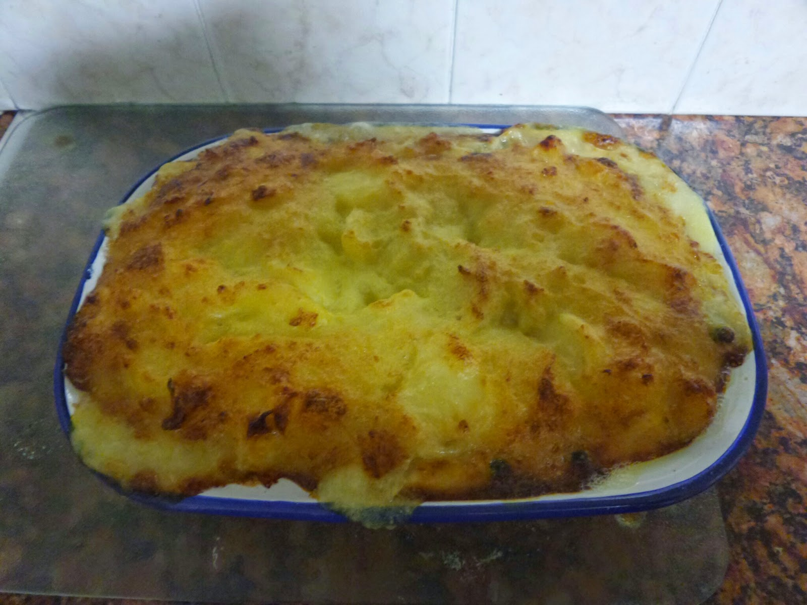 The best looking (and pretty good tasting) Fish Pie I have ever made and photographed!