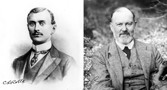 Rolls-Royce founders: Charles Rolls and Henry Royce