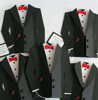 elegant tuxedo origami