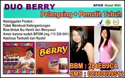 Duo Berry Pelangsing Plus Pemutih Tubuh Aman BPOM