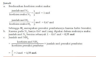Contoh Soal Persamaan Reaksi serta Penentuan Kadar Unsur Senyawa dan Pereaksi Pembatas Kimia