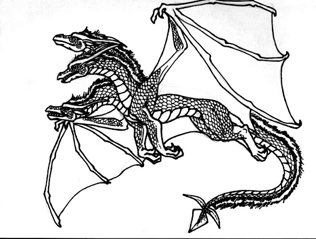 Cool Dragon Coloring Pages In Dragon Coloring Pages Free