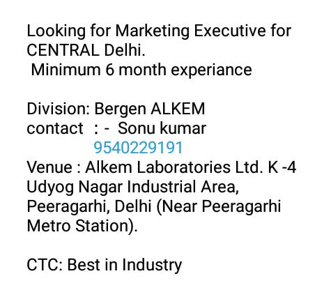 Alkem Laboratories - Looking for Executive | PHARMA JOBS