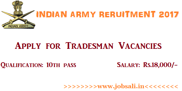 Indian Army Vacancy, Indian Army jobs, Indian Army Vacancy for 10th pass
