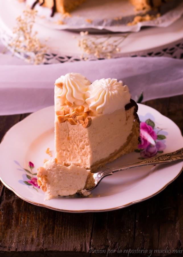 Cheesecake de turrón de jijona sin horno