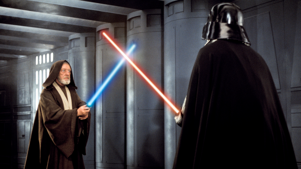 Obi-Wan Kenobi confronts Darth Vader on the Death Star