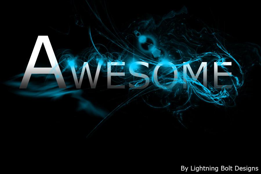 Lightning Bolt Designs Awesome Blue