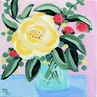 floral painting by artist Merrill Weber