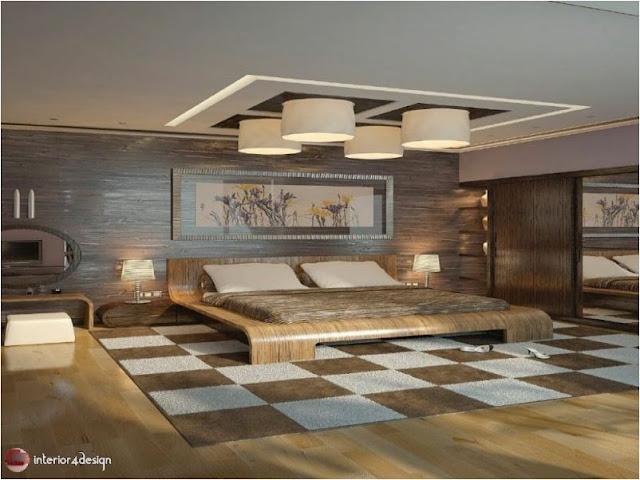 Gypsum Bedroom Designs 14