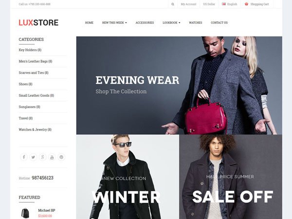 Free download Themeglobal Luxstore Opencart 2.x