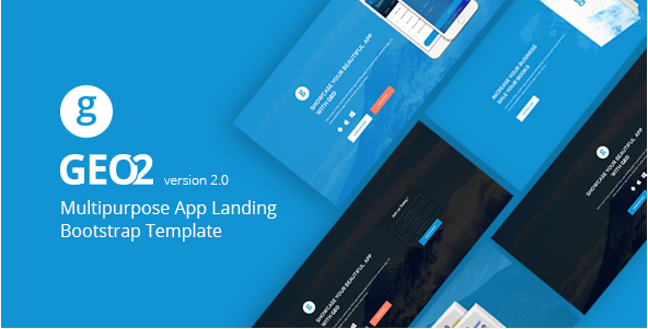 Download GEO Bootstrap App Landing Page Template Free Free - Bootstrap landing page template free download