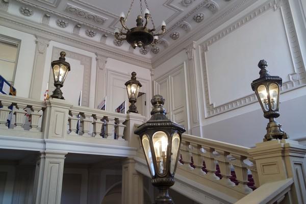 bratislava vieille ville centre palais primatial escalier intérieur