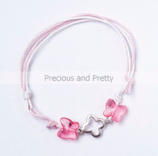 Witness pins butterflies bracelet for Greek baptism KL21