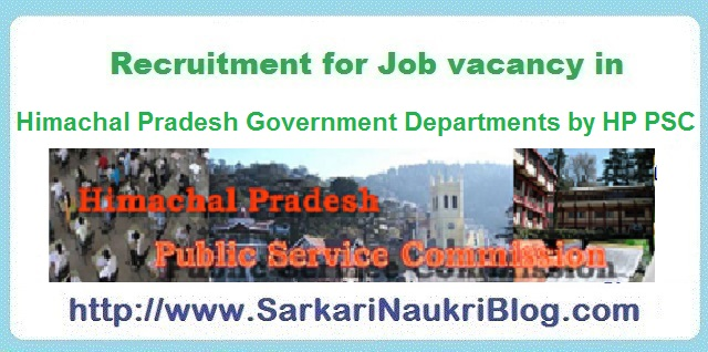 Naukri Vacancy Recruitment by Himachal PSC