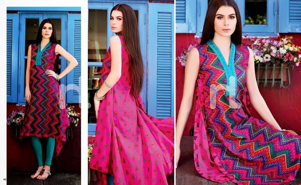 Two Color Combination Lawn Dresses
