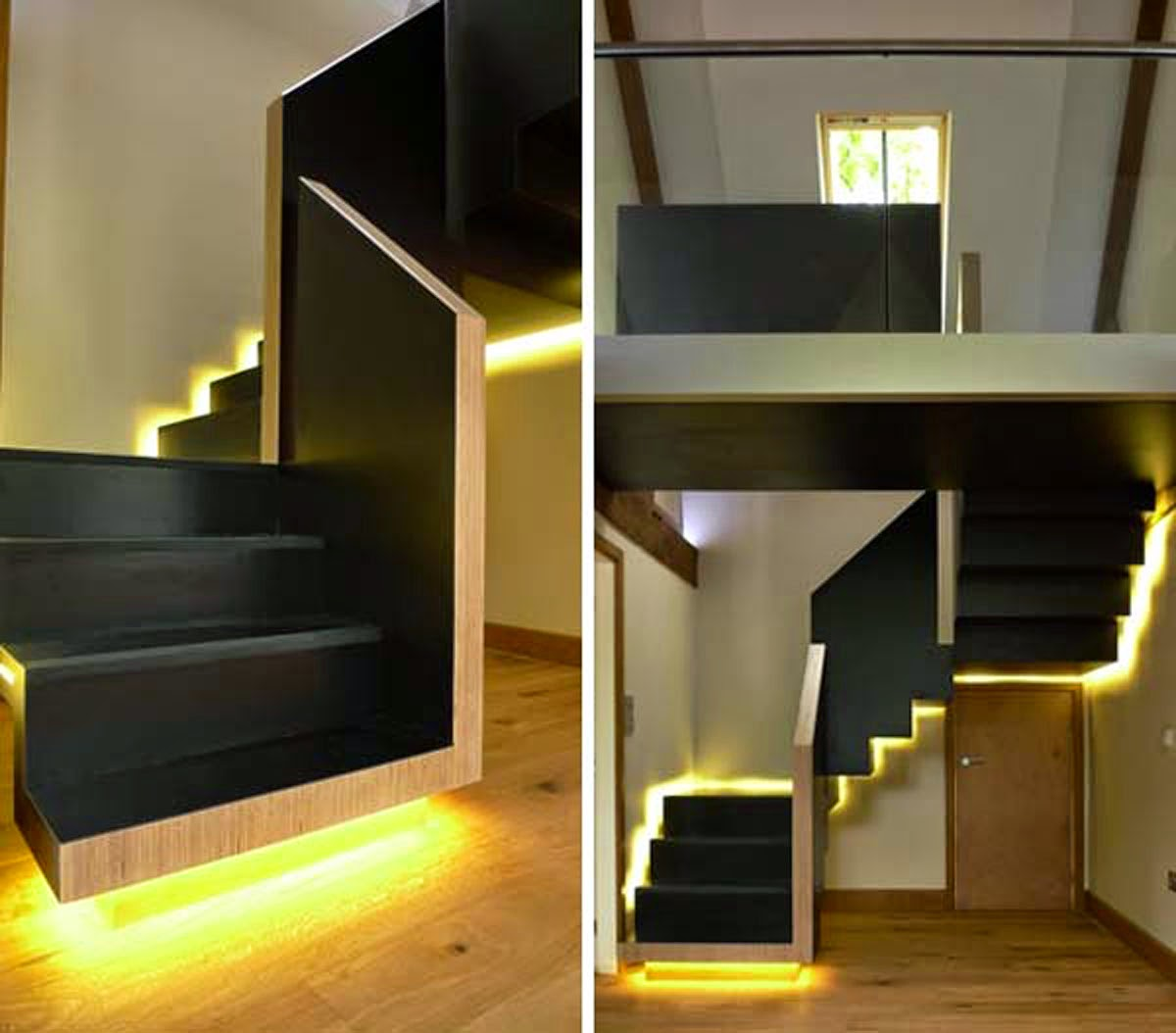 Staircases with LED Lights