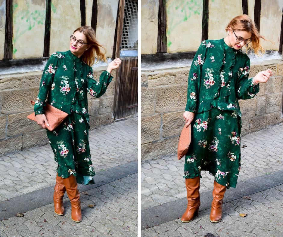 Grünes Maxikleid für Frauen, Modetipps zu Grün, Outfitinspiration, Modeblog