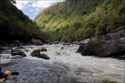 Joel Fedak deep in the Magdalena Canyon, estretcho, colombia, Chris Baer