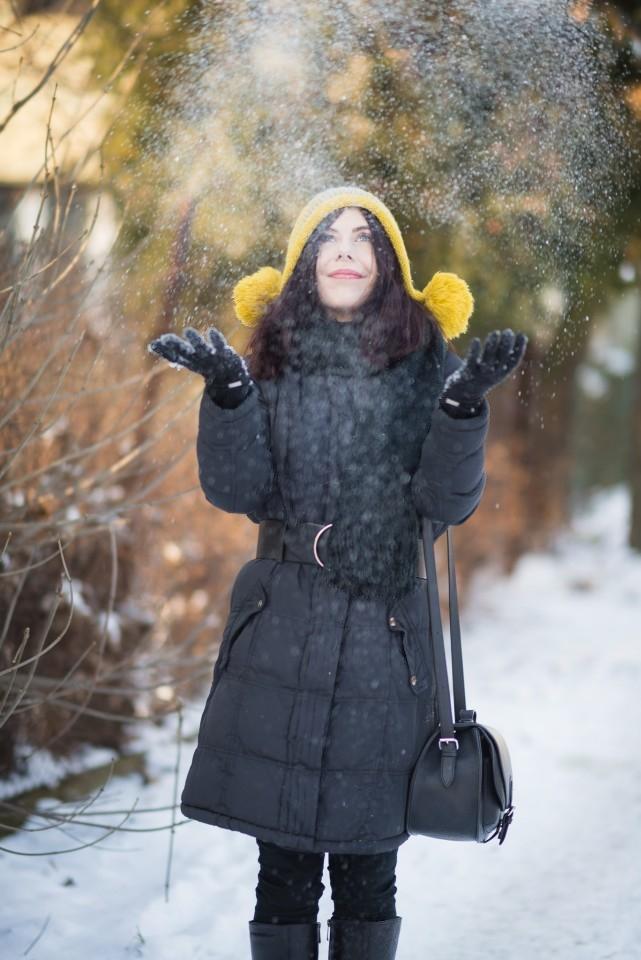 sesja w śniegu blog