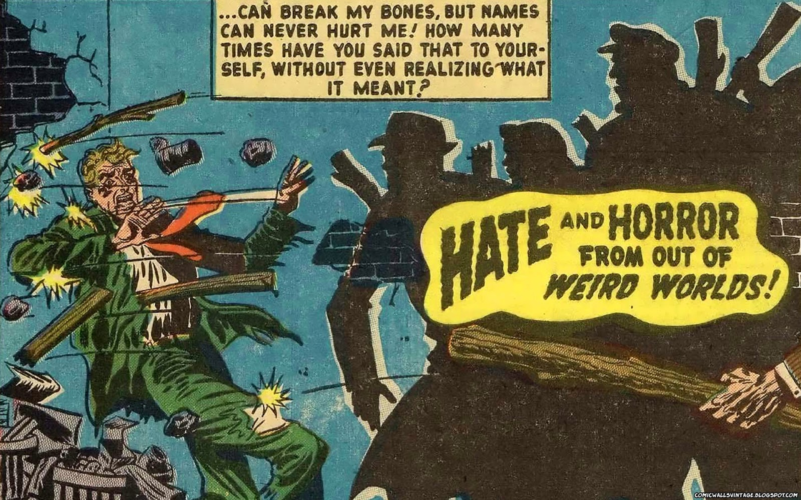 Comic Wallpapers Vintage Hate And Horror From Out Of Weird Worlds