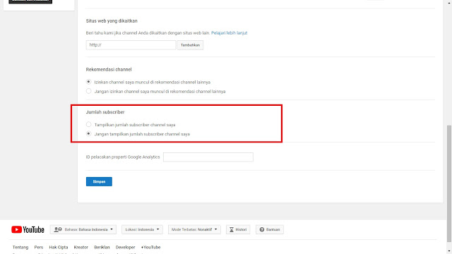 Cara Sembunyikan Jumlah Subscriber Youtube Terbaru !!