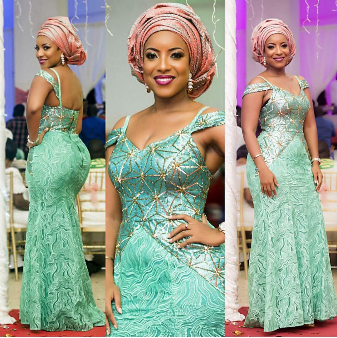 Celebrity Wedding Guest Outfits 2019: Amaizing Latest Nigerian Lace Dresses Designs 2018-2019