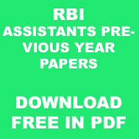 RBI Assistants 2015 Papers