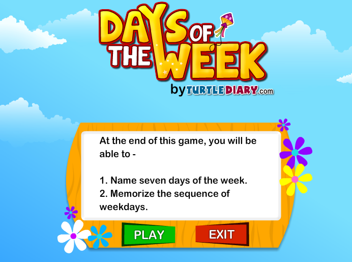 Number Names Worksheets days of the week exercises : Easy Peasy!: Days Of The Week (1º,2º)