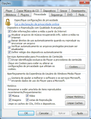 Desabilitar o CEIP do Windows Media Player