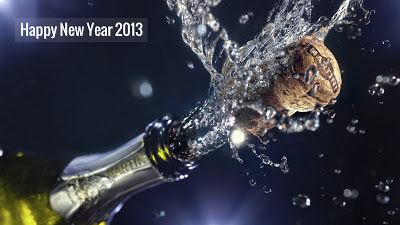 Happy New Year 2013 Photo, Champagne Bottle. 2013 goals, Lou Holtz Quote