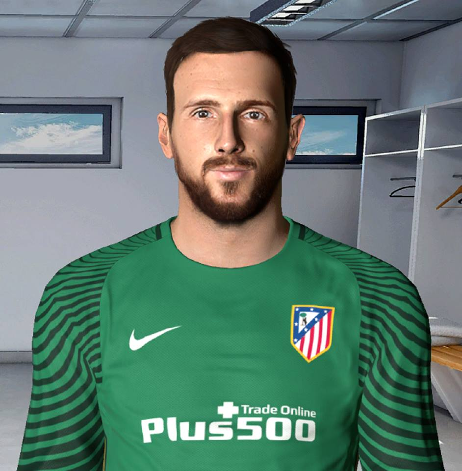 PES2017 Face Jan Oblak Atletico Madrid by Litos Facemaker