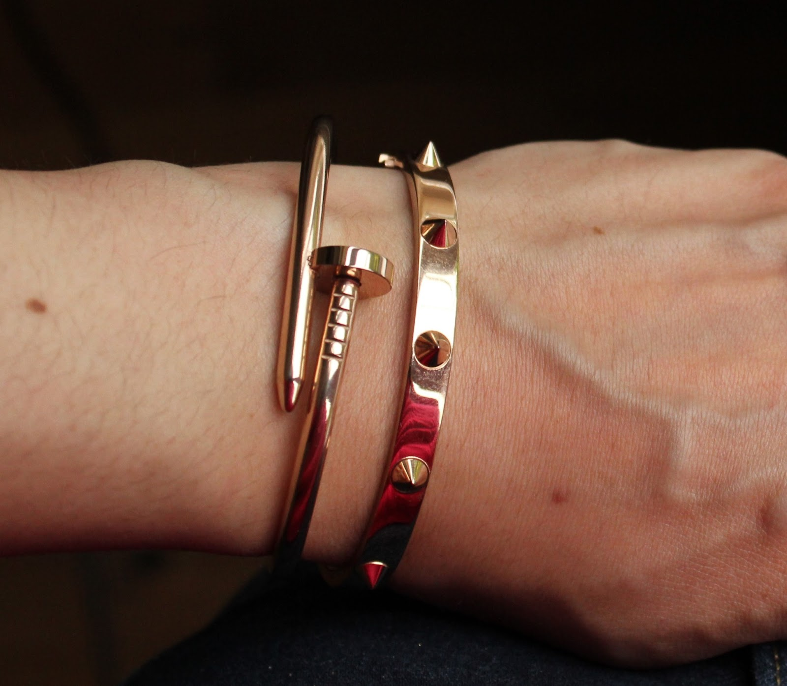 cc82ef177 EBAY HAUL  TWO NICE ROSE GOLD BANGLES