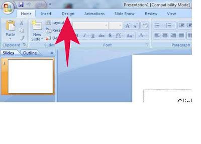 Fungsi Menu DESIGN ( Tools Pada Microsoft Powerpoint )